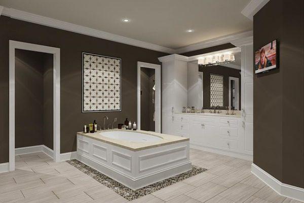 monta le piastrelle nuove quando ristrutturi un bagno